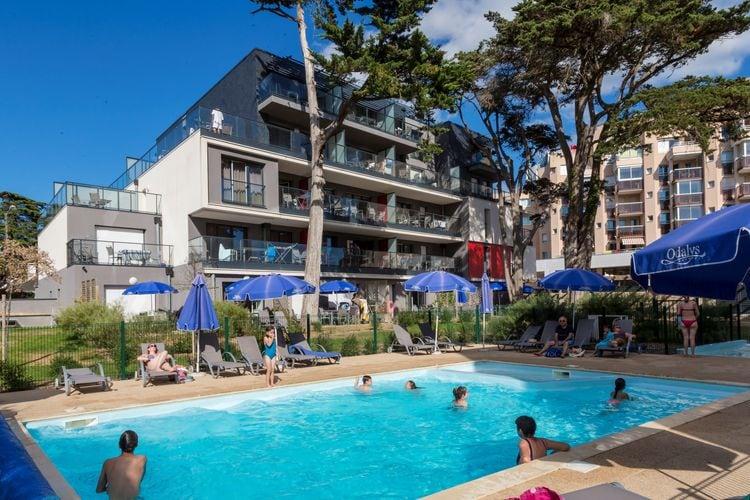 Appartementen Frankrijk | Pays-de-la-loire | Appartement te huur in PORNICHET met zwembad  met wifi 4 personen