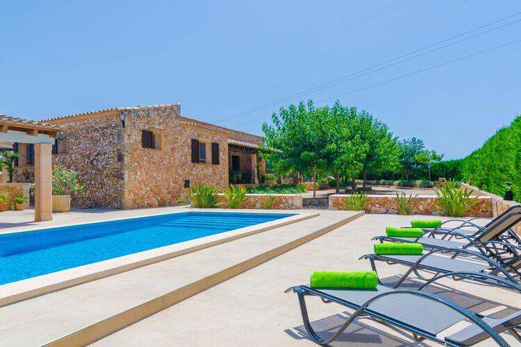 Vakantiehuizen Spanje   Mallorca   Villa te huur in Vilafranca-Illes-Balears met zwembad  met wifi 4 personen