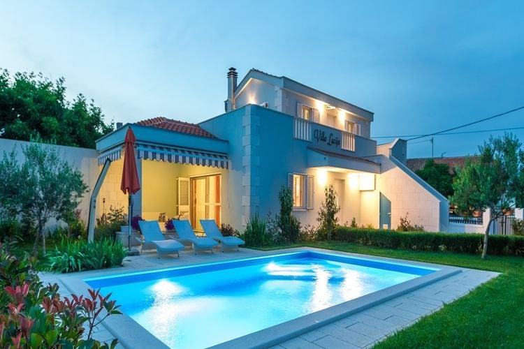 Kroatie | Dalmatie | Villa te huur in Vrsi met zwembad  met wifi 7 personen