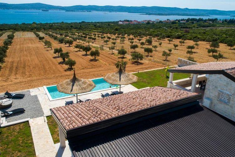 Kroatie | Dalmatie | Villa te huur in Biogrd-na-moru met zwembad  met wifi 6 personen