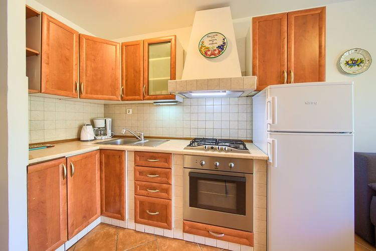 Appartement Kroatië, eld, Malinska Appartement HR-00016-56