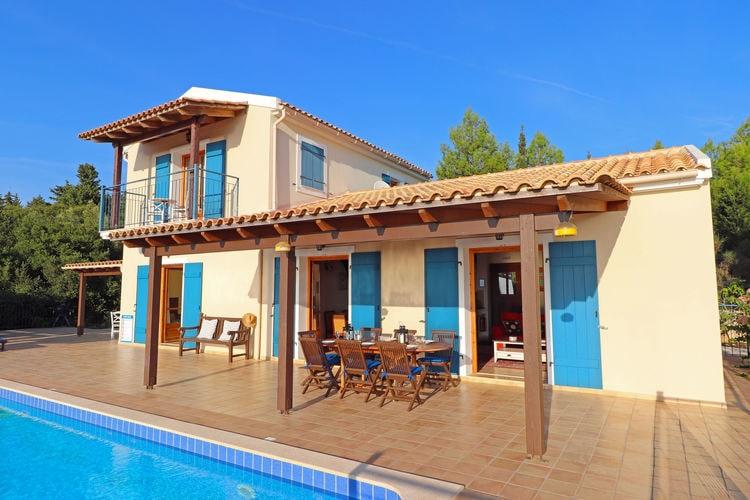 Griekenland | Grkef | Villa te huur in Chalikeri met zwembad  met wifi 6 personen