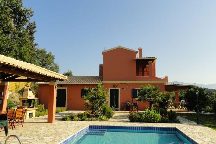 Griekenland | Corfu | Villa te huur in Poulades met zwembad  met wifi 8 personen