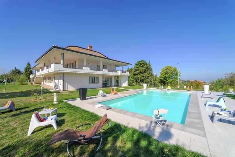 Vakantiehuizen Italie | Marche | Villa te huur in Tavullia met zwembad  met wifi 32 personen
