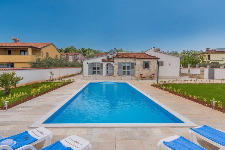 Kroatie | Istrie | Villa te huur in Porec met zwembad  met wifi 10 personen