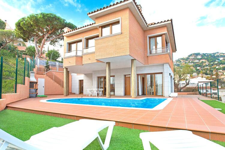 Vakantiehuizen Spanje | Costa-Brava | Villa te huur in Lloret-de-Mar met zwembad  met wifi 8 personen