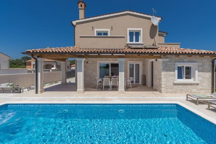 Kroatie | Istrie | Villa te huur in Liznjan met zwembad  met wifi 8 personen
