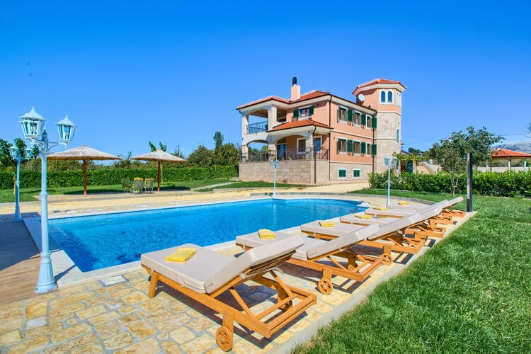 Kroatie | Dalmatie | Villa te huur in Ruzic met zwembad  met wifi 12 personen