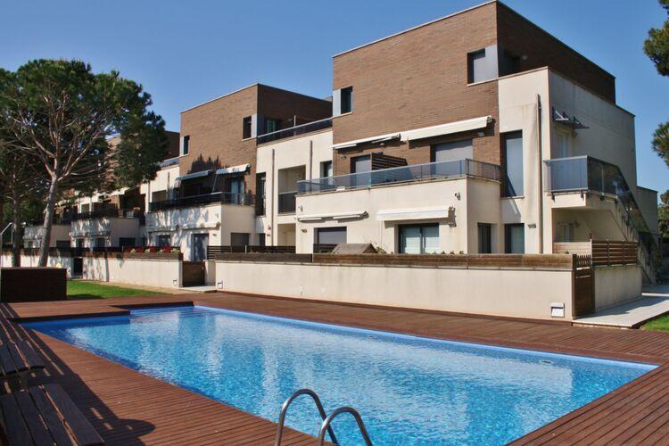 Vakantiehuizen Spanje | Costa-Brava | Appartement te huur in SAgaro met zwembad  met wifi 5 personen