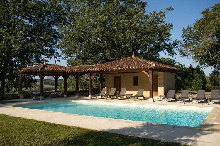 Vakantiehuizen Frankrijk | Midi-Pyrenees | Villa te huur in Peyrusse-Grande met zwembad  met wifi 12 personen