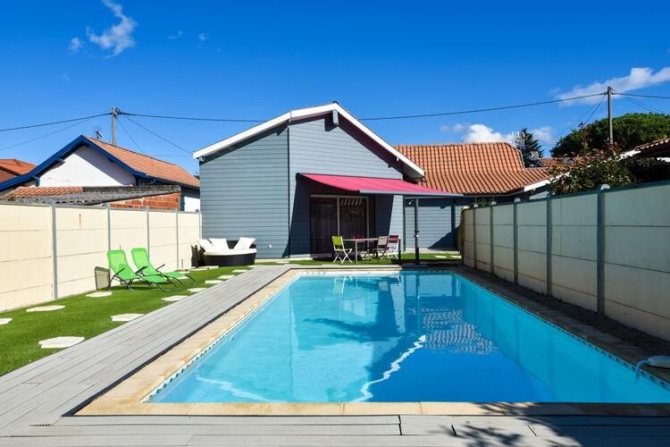 Vakantiehuizen Frankrijk | Cote-Atlantique | Vakantiehuis te huur in La-Teste-de-Buch met zwembad  met wifi 8 personen