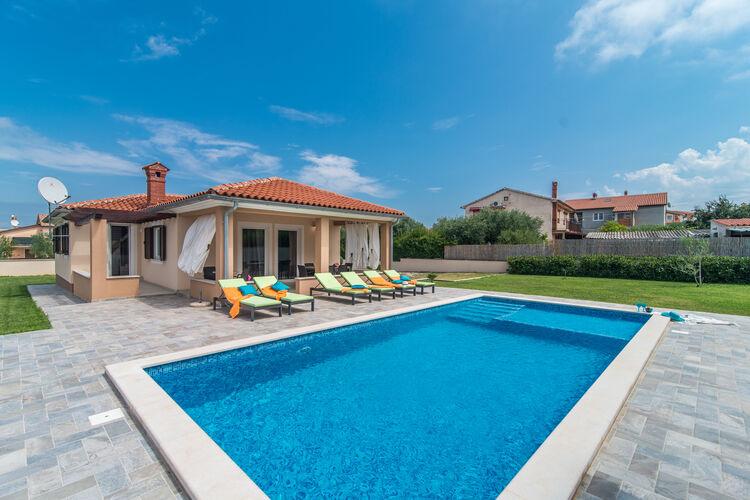 Kroatie | Istrie | Villa te huur in Linjan met zwembad  met wifi 6 personen