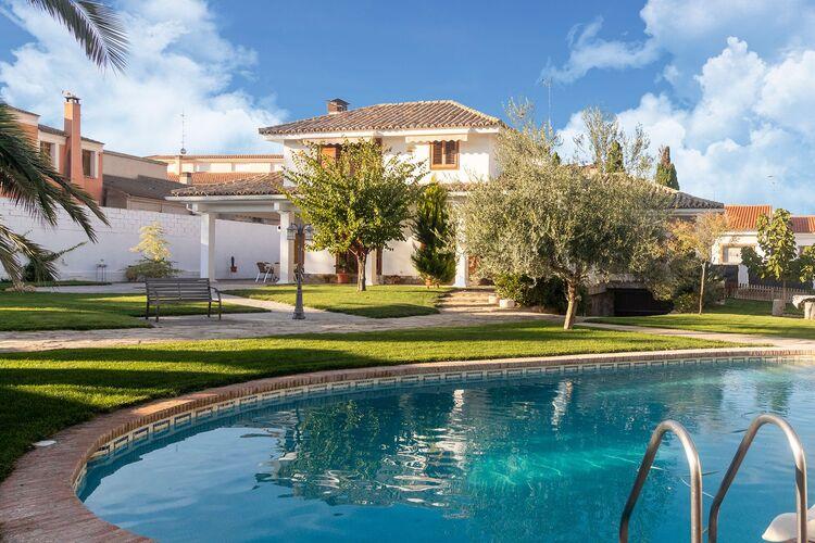 Vakantiehuizen Spanje | Castilla-las-mancha | Vakantiehuis te huur in Villacaas met zwembad  met wifi 10 personen