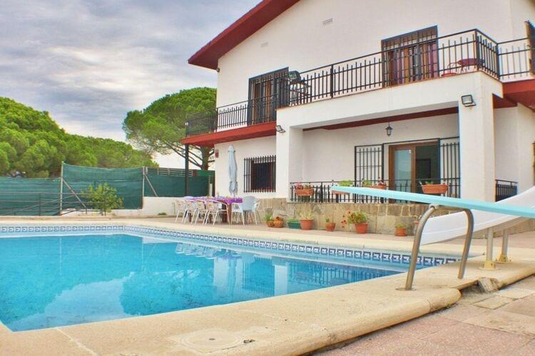 Vakantiehuizen Spanje | Costa-de-Barcelona | Villa te huur in Sant-Pol-de-Mar met zwembad  met wifi 10 personen