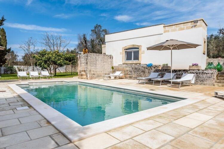 Vakantiehuizen Italie | Puglia | Villa te huur in Poggiardo met zwembad  met wifi 7 personen