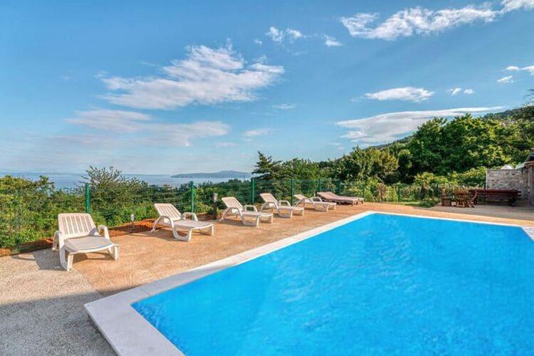 Vakantiehuizen Kroatie | Kvarner | Vakantiehuis te huur in Lovran met zwembad  met wifi 6 personen