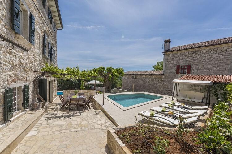 Villa Kroatië, Istrie, Dračevac Villa HR-00048-51