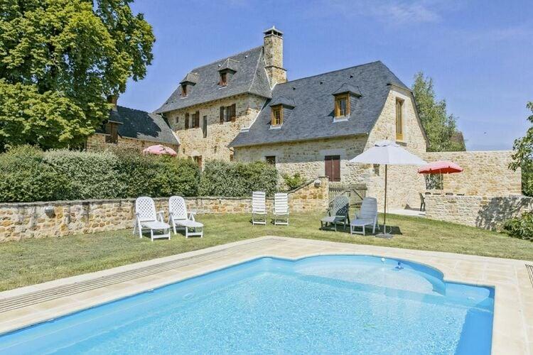 Vakantiehuizen Frankrijk | Cote-Atlantique | Vakantiehuis te huur in BEAUREGARD-DE-TERRASSON met zwembad  met wifi 6 personen