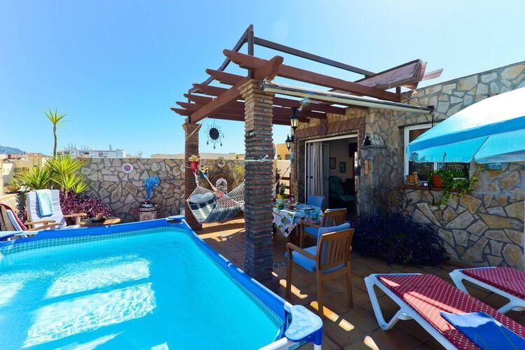 Vakantiehuizen Spanje | Costa-del-Sol | Vakantiehuis te huur in Nerja met zwembad  met wifi 5 personen
