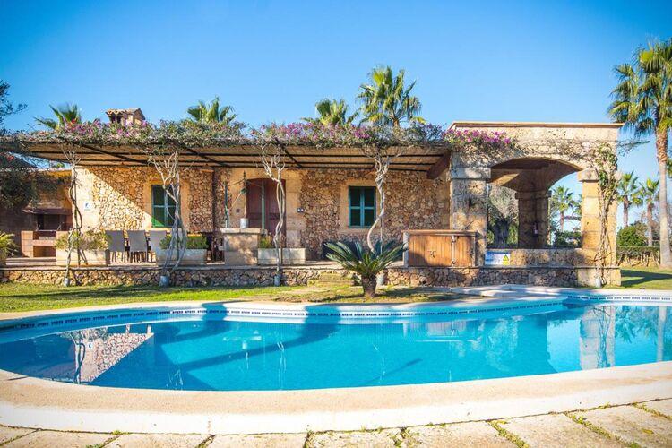 Vakantiehuizen Spanje | Mallorca | Vakantiehuis te huur in Santa-Margalida met zwembad  met wifi 6 personen
