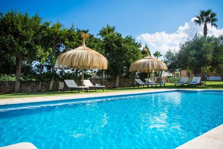 Vakantiehuizen Spanje | Mallorca | Vakantiehuis te huur in Santa-Margalida met zwembad  met wifi 10 personen