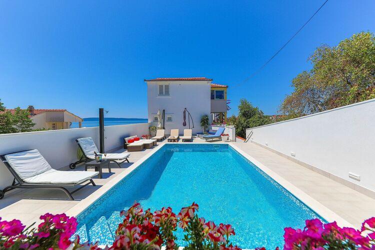 Vakantiehuizen Kroatie | Dalmatie | Villa te huur in Okrug-Gornji met zwembad  met wifi 12 personen