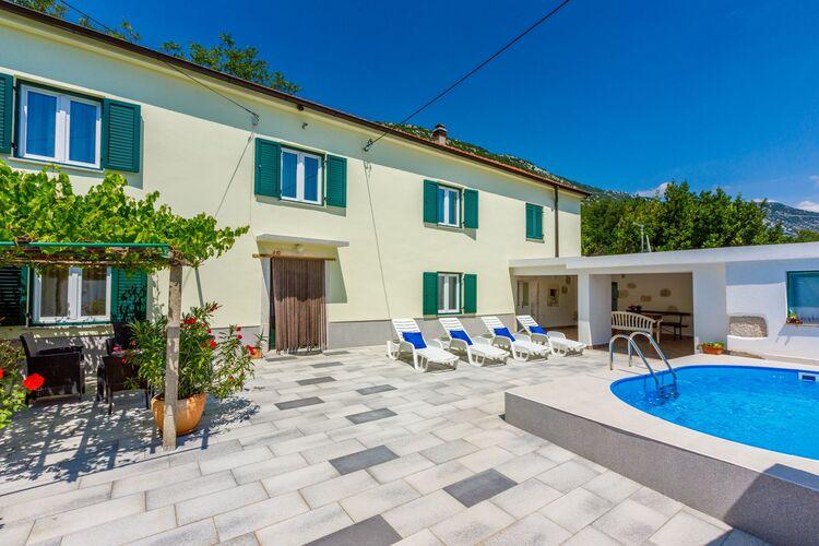 Vakantiehuizen Kroatie   Kvarner   Vakantiehuis te huur in Drivenik met zwembad  met wifi 6 personen