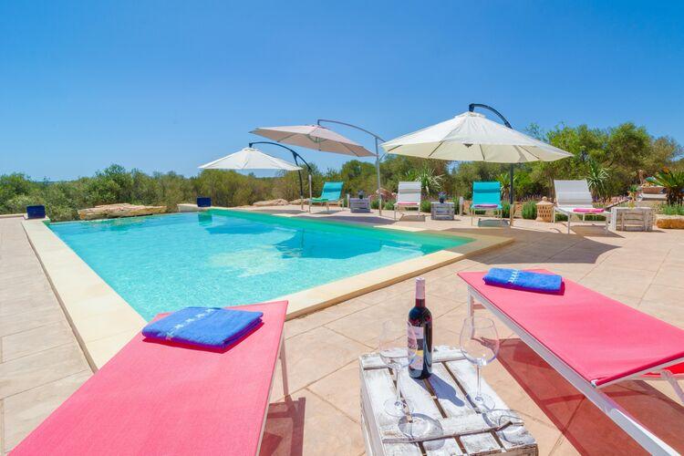 Vakantiehuizen Spanje | Mallorca | Villa te huur in Ses-Salines-Illes-Balears met zwembad  met wifi 6 personen