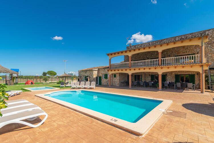 Vakantiehuizen Spanje   Mallorca   Villa te huur in Sencelles-Illes-Balears met zwembad  met wifi 32 personen