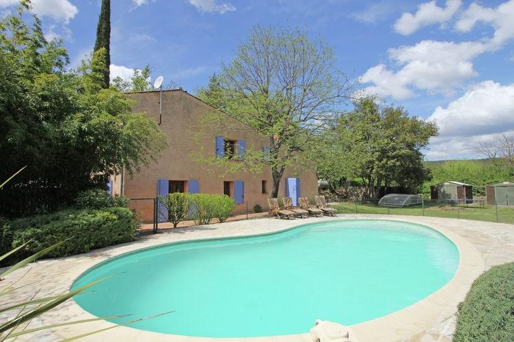 Vakantiewoning met zwembad met wifi  Salernes  Sfeervol ingerichte Provençaalse Mas met privézwembad en grote tuin nabij Provençaals dorp Salernes