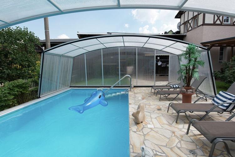 Vakantiehuizen Duitsland | Saksen | Appartement te huur in Pohla met zwembad  met wifi 5 personen