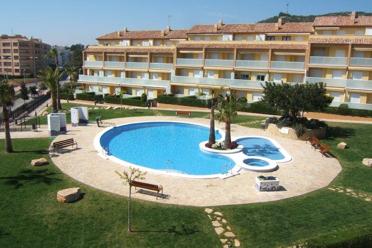 Costa del Azahar Vakantiewoningen te huur Direct aan zee gelegen appartement.