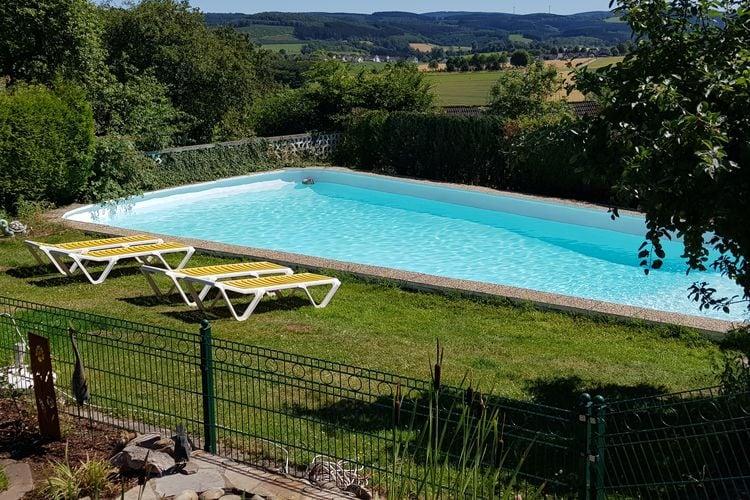 Vakantiehuizen Duitsland | Sauerland | Appartement te huur in Attendorn-Silbecke met zwembad  met wifi 5 personen
