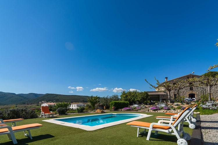 Vakantiehuizen Costa de Barcelona te huur Castellví-de-la-Marca- ES-08732-02 met zwembad  met wifi te huur