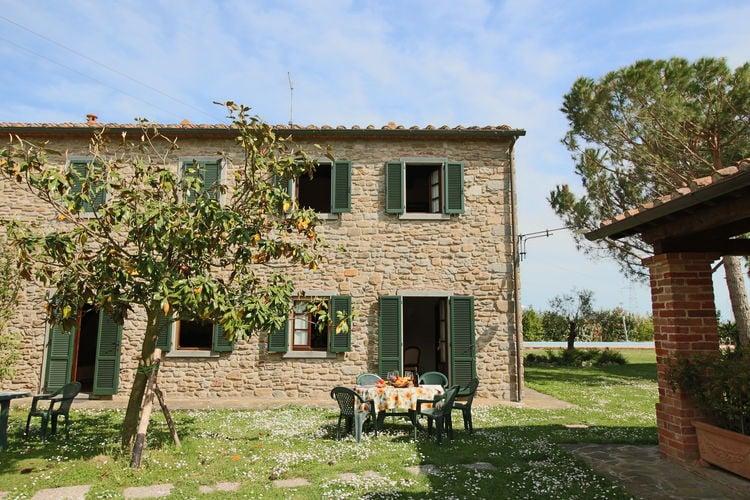 Boerderijen Italie | Toscana | Boerderij te huur in Cortona met zwembad  met wifi 6 personen