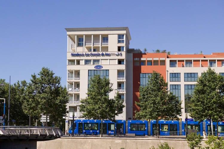 Appartement huren in Montpellier - met zwembad   met zwembad voor 4 personen  Dit appartement heeft twee eenpers..