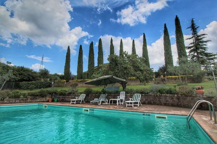 Vakantiehuizen Italie | Umbrie | Villa te huur in Ficulle met zwembad  met wifi 8 personen