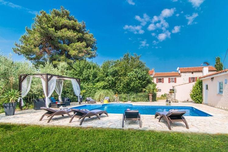 Kroatie | Istrie | Villa te huur in Marcana met zwembad  met wifi 10 personen