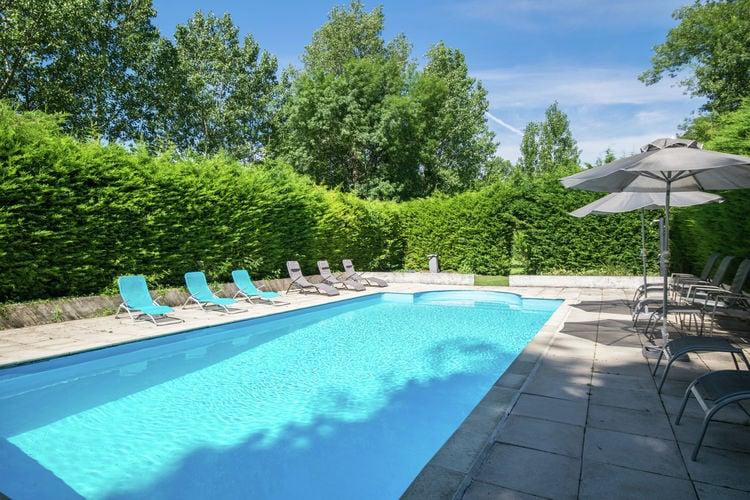 Frankrijk | Cote-Atlantique | Vakantiehuis te huur in Champagnac met zwembad  met wifi 14 personen