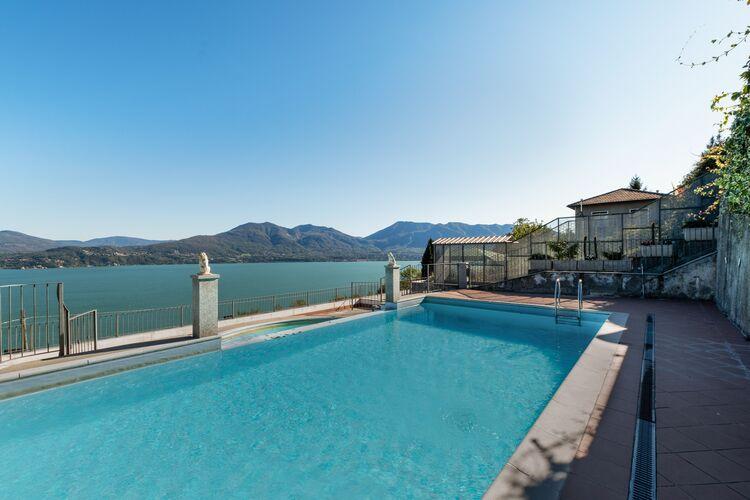 Vakantiehuizen Italie | Italiaanse-Meren | Appartement te huur in Oggebbio met zwembad   8 personen