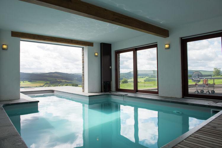 Belgie | Luik | Vakantiehuis te huur in Chevron met zwembad  met wifi 20 personen