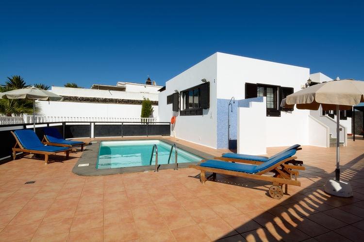 lnzt Vakantiewoningen te huur Luxe villa met privézwembad in het zuiden van Lanzarote