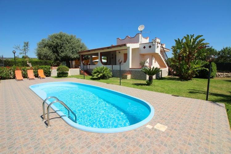 Sicilia Villas te huur Vrijstaand huis in de buurt van Syracuse gelegen op een zonnige, serene locatie
