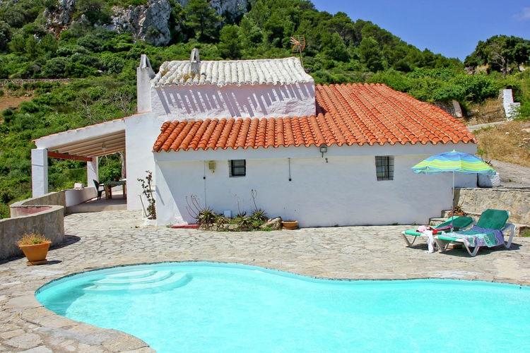 Vakantiehuizen Spanje | Men | Vakantiehuis te huur in Es-Mercadal met zwembad  met wifi 6 personen