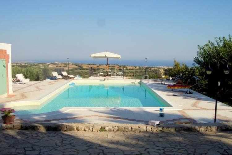 Italie / Sicilia | Villa met zwembad met wifi  - Modica  Villa delle Palme