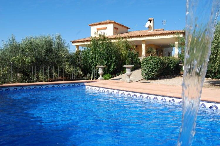 Spanje | Valencia | Vakantiehuis te huur in Chella met zwembad aan zee met wifi 8 personen