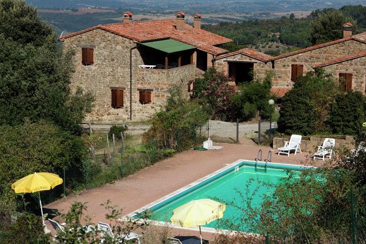 Paciano Boerderijen te huur Agriturismo met zwembad op de grens van Umbrië en Toscane