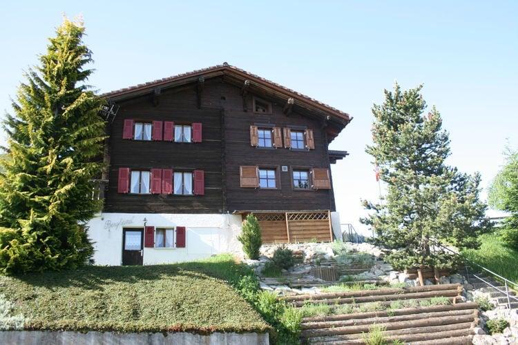 Appartement    Obersaxen  Ruime vakantiewoning met fijne tuin, volop speelruimte en een rustige ligging