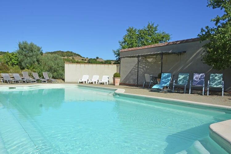Vakantiehuizen Frankrijk | Languedoc-roussillon | Villa te huur in Villarzel-du-Razes met zwembad  met wifi 20 personen