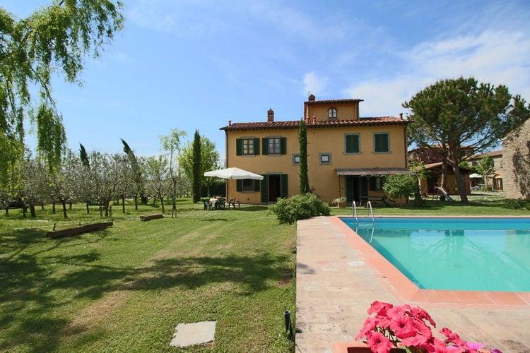 Boerderijen Italie | Toscana | Boerderij te huur in Cortona met zwembad  met wifi 8 personen